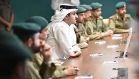 Emir visits Emiri Guard buildings at Barzan Camp