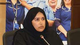 Sultana Afdhal speaking at an event