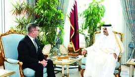 Amir receives credentials of Poland's envoy