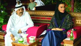 Father Emir and Sheikha Moza attend Longines Global Champions Tour finale