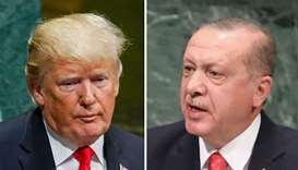 US President Donald Trump and  Turkish President Tayyip Erdogan