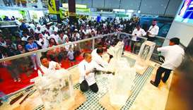 Chefs participating in an event at Hospitality Qatar