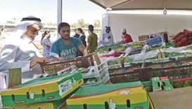 Local products markets sell 316 tonnes of fruits and veg