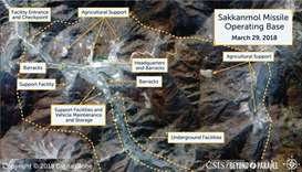 A Digital Globe satellite image shows what CSIS reports is an undeclared missile operating base at S