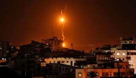 flares dropped by Israeli warplanes above Gaza city