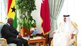 Amir, Ghana president discuss co-operation prospects