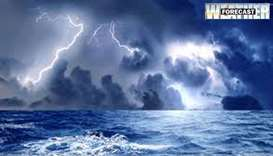 Weather- thunder, winds offshore