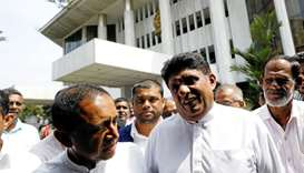 Sajith Premadasa deputy leader and Kabir Hashim senior member of the deposed Prime Minister Ranil Wi