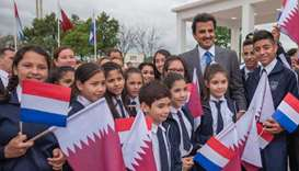 Paraguay  school  children with HH the Amir