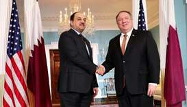 Defence minister meets Pompeo