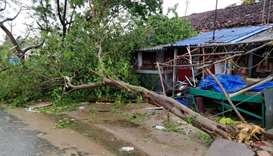 The aftermath of cyclone Gaja is seen in Tamil Nadu, India