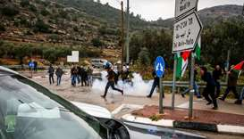 Israeli forces fired teargas
