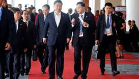 China's President Xi Jinping leaves APEC Haus, during the APEC Summit in Port Moresby, Papua New Gui