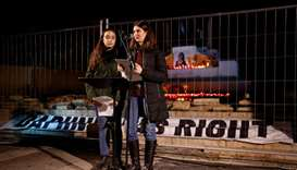 Amy and Megan Mallia, nieces of assassinated anti-corruption journalist Daphne Caruana Galizia