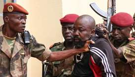 "Members of the armed forces arrest Central African MP Alfred Yekatom aka ""Rambo"""