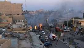 Car bomb blast  in Tikrit