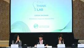 Luigia Ingianni, Commissioner of the QFC's Employment Standards Office addressing the 'Think-Lab'