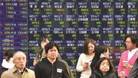 Most Asian bourses end higher