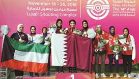 Qatar shooters on gold spree at Arab event