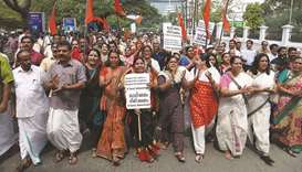 70 protesters arrested as Sabarimala row deepens