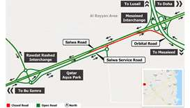 Four-day traffic diversion on Salwa Road from Thursday