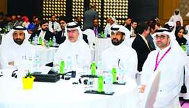Al-Mansoori, along with other QSE officials, at the 9th annual IR meet. The QSE, the Qatar Financial