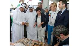 (From left) HE Dr Mohamed bin Saleh al-Sada and Katara general manager Dr Khalid bin Ibrahim al-Sula