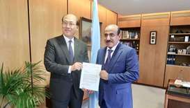HE Minister of Transport and Communications Jassim Saif Ahmed Al Sulaiti submits candidature file fo