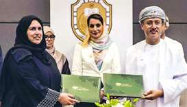 WISH and Sultan Qaboos University sign agreement in the presence of Dr Mona Fahad al-Said