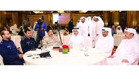 HE the Minister of Culture and Sports Salah bin Ghanem bin Nasser al-Ali and other senior officials