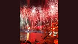 Fireworks at Katara Traditional Dhow Festival
