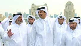 His Highness the Amir Sheikh Tamim bin Hamad al-Thani visits the 8th Katara Traditional Dhow Festiva