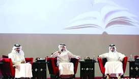 HE the Minister of Culture and Sports Salah bin Ghanem al-Ali announcing the details of Doha Interna
