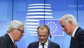 European Commission President Jean-Claude Juncker, European Council President Donald Tusk and Europe