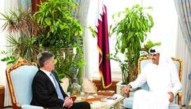 His Highness the Amir Sheikh Tamim bin Hamad al-Thani  meets Filemon Vela