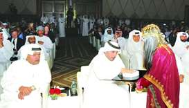 HE the Prime Minister Sheikh Abdullah bin Nasser bin Khalifa al-Thani officially launches Qatar's fi