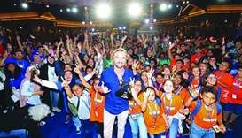 The young jurors at Ajyal Film Festival are all smiles in the company of Harry Potter star Tom Felto