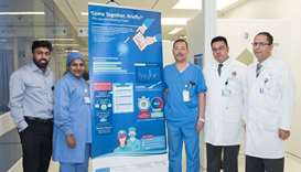 Members of HMC's Acute Care Surgery section and Quality teams
