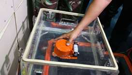 A flight data recorder, part of the ill-fated Lion Air flight JT 610's black box