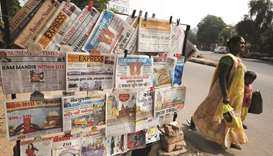 newspapers hanging