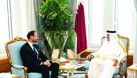 Amir meets Norway's crown prince