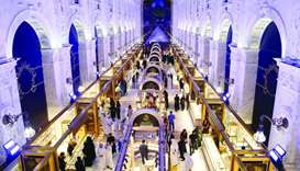 A view of the stalls at Asjad Jewellery Exhibition which opened Friday at Al Hazm.