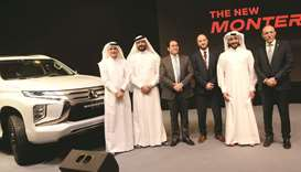 Sheikh Nasser bin Nawaf al-Thani, Sheikh Faleh bin Nawaf al-Thani, other dignitaries and NBK Auto of
