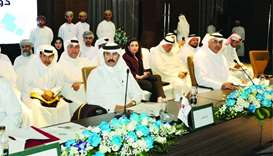 Qatar Chamber second vice chairman Rashid bin Hamad al-Athba, as well as board members Mohamed bin M