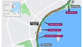 Partial traffic shift on Al Corniche Street