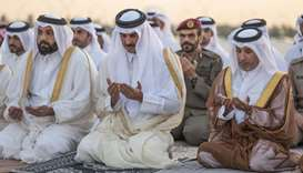 Amir performs Istisqaa (rain-seeking) prayer at Al-Wajbah prayer ground