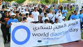 Sheikh Joaan participates in diabetes awareness walkathon