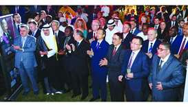 The Belgian King's Day in Doha was attended by several ambassadors and other dignitaries.