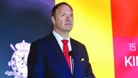 Belgian ambassador Bart De Groof at the King's Day in Doha