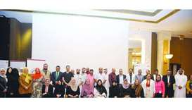 Nurses and supervisors with officials during the training programme.